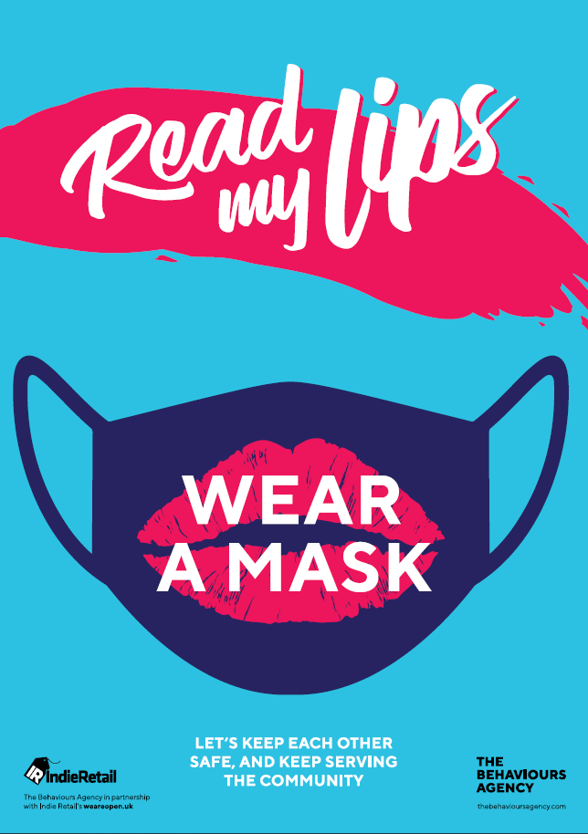 Covid-19 Behavioural-led Retail Posters - Read my lips wear a mask