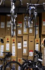 Bikes in storage