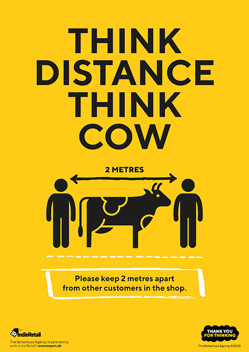 COVID-19 Indie Retail Think Distance Think Cow